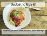Budget to Buy it! Junior Grades Financial Literacy