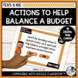 Budgeting Actions Personal Financial Literacy   Boom Cards