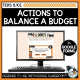 Budgeting Actions Personal Financial Literacy | Digital Math Task Cards