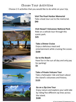Budgeting Activity: Plan A Vacation!
