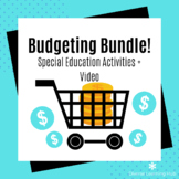 Budgeting Bundle + Instructional Video for Special Education!