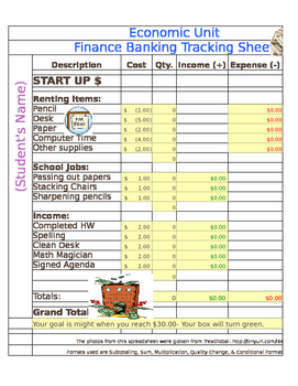 budgeting excel spreadsheet by fair winds teaching tpt