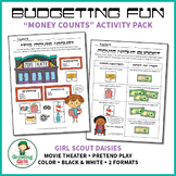 """Budgeting Fun - Girl Scout Daisies """"Money Counts"""" Activity Pack (Step 3)"""
