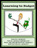 Budgeting, LEARNING TO BUDGET, Budget, Personal Finance
