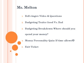 Budgeting Mini-Lesson