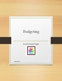 Budgeting:  Monthly Family Budget