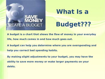 budgeting powerpoint presentation by mightier than the sword tpt