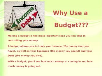 Budgeting PowerPoint Presentation