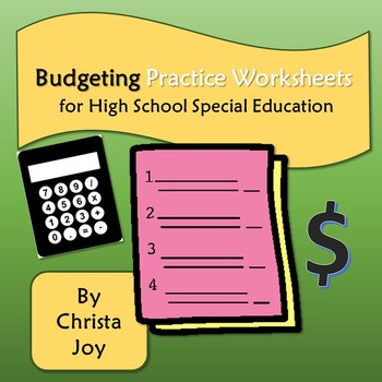 budgeting practice worksheets for high school special education tpt