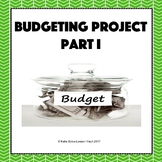 Budgeting Project Part I - Personal Finance