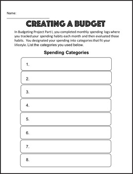 Budgeting Project Part II - Personal Finance