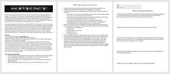 Budgeting- SPENT Online Game Directions/Discussion Sheets-
