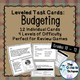 Budgeting Task Cards - Leveled - Suitable for Review Games