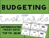 Budgeting Task Cards and Data Sheet- Life Skills