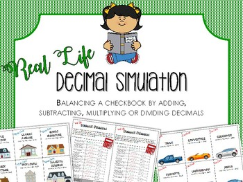 Budgeting With Decimals: Activity to Add, Subtract, Multiply or Divide Decimals