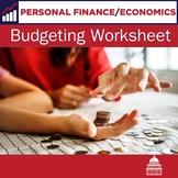 Budgeting Worksheet