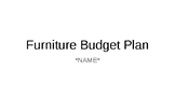 Budgeting Your New Apartment