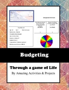 Budgeting a bank balance through a game of life.