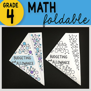 Math Doodle - Budgeting and Allowance ~ INB Foldable Notes ~