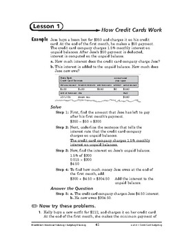 Budgeting and Banking Math: Credit Card Budgeting-How Cred
