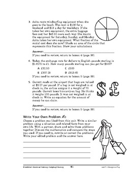 Budgeting and Banking Math: Going on a Trip-REVIEW