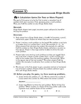 Budgeting and Banking Math: Keeping the Books-Bingo Books