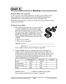 Budgeting and Banking Math: Keeping the Books-REVIEW
