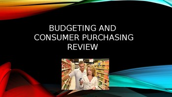 Budgeting and Consumer Presentation