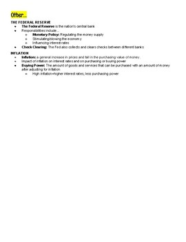 Budgeting and Cost of Money Unit Summary [Personal Finance Unit 1]