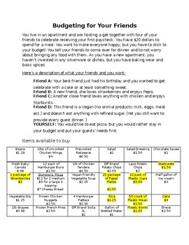 Budgeting and Meal Planning
