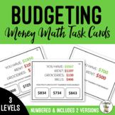 Budget for Savings Task Cards