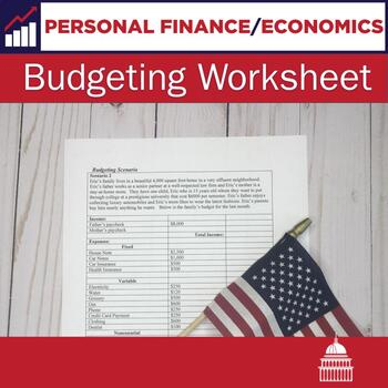Budgeting Worksheet By Not Another History Teacher Tpt