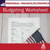 Budgeting worksheet | Personal Finance