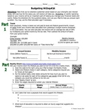 Budgeting/Financial Management iPad Webquest Differentiated