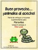 Buen Provecho... animales al acecho -Maravillas - Unidad 4 Semana 3