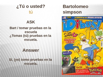 Buen Viaje 1 - 3.4 – Tú or Usted