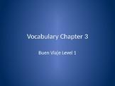 Buen Viaje 1 - Chapter 3 Vocab Flashcards - English to Spanish