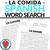 Spanish Food Vocabulary Worksheets - Spanish Word Search