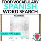 Spanish Food WORD SEARCH
