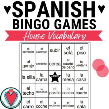 Spanish Bingo: House Vocabulary | Mi Casa