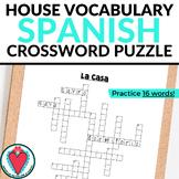 Spanish House Vocabulary CROSSWORD La Casa Crucigrama