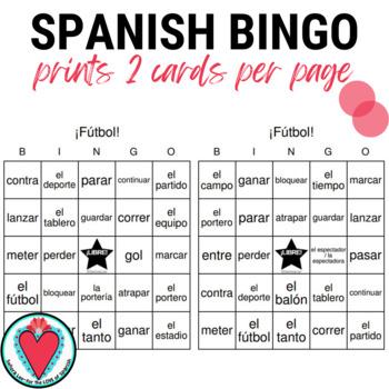 Spanish BINGO: Soccer Vocabulary | Fútbol