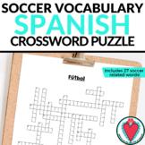 Spanish Soccer Vocabulary - Spanish Crossword Puzzle