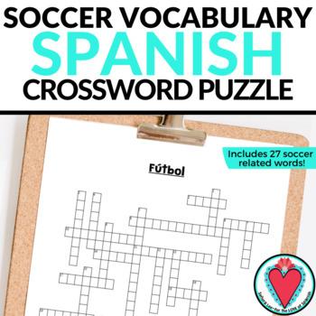 Spanish Soccer Vocabulary CROSSWORD