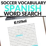 Spanish Soccer Vocabulary WORD SEARCH - El Fútbol