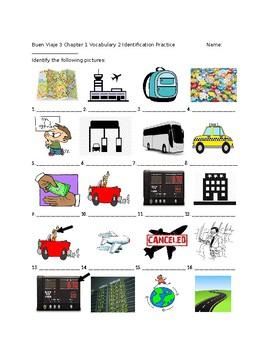 Buen Viaje 3 Chapter 1 Vocabulary Lesson 2 Identification Practice/Quiz