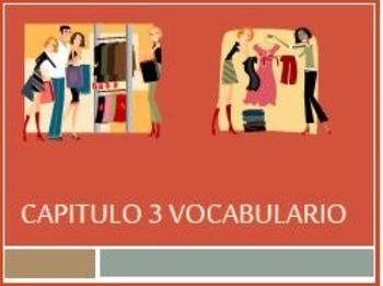 Buen Viaje Chapter 3 Vocabulario