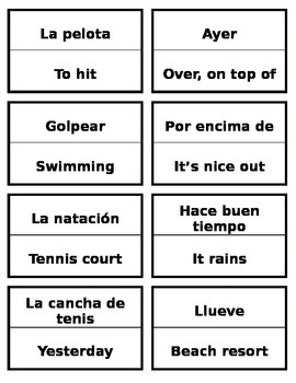 Buen Viaje, Chapter 9 Palabras 1 Vocab game