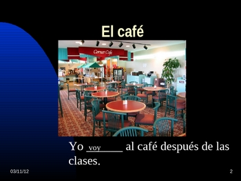 Buen Viaje I  Capitulo 5 Vocab PPT  El Restaurante