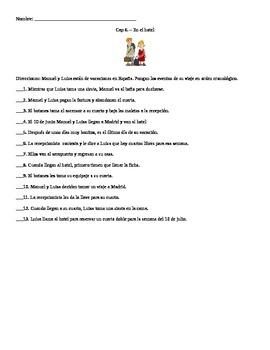 Buen Viaje II Cap 6 - En el Hotel Sequential Order Activity w Answers